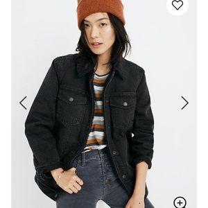 Madewell Oversized Jean jacket : Sherpa edition